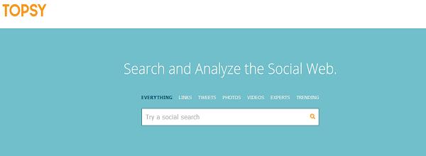 Topsy   Instant social insight
