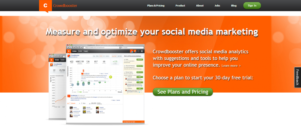 Crowdbooster  Social Media Marketing Analytics and Optimization